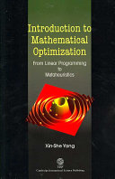 Introduction To Mathematical Optimization book
