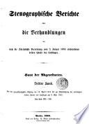 Stenographische Berichte   ber die Verhandlungen