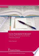 Lost in Translation (Criticism)?