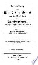 Darstellung des Erbrechts nach den Grunds  tzen des Sachsenspiegels  of E  von Repgow      Eine     Preisschrift  etc
