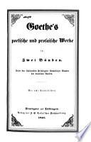 Poetische und prosaische Werke