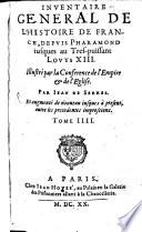 Inventaire General De L'Histoire De France