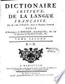Dictionnaire critique de la langue française