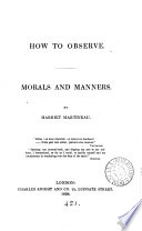 How to observe  morals and manners