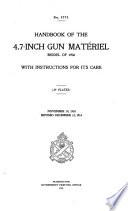 Handbook of the 4.7-inch Gun Matériel, Model of 1906