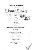 Kriegs  und Sittengeschichte der Reichsstadt N  rnberg  T  Von 1620 bis 1628