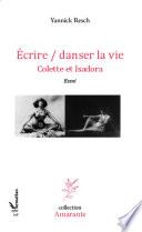 Ecrire   danser la vie