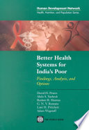 Better Health Systems for India's Poor