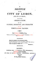 A Sketch of the City of Lisbon and Its Environs