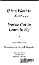If you want to soar-- you've got to learn to fly