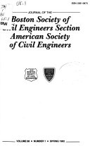 Journal of the Boston Society of Civil Engineers Section, American Society of Civil Engineers