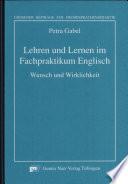 Lehren und Lernen im Fachpraktikum Englisch