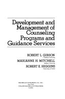 Development And Management Of Counseling Programs And Guidance Services