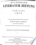allgemeine literatur zeitung vom jahre 1806