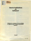 Source Publications for SciSearch