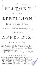The History of the Rebellion in 1745 and 1746