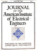 Journal of the American Institute of Electrical Engineers