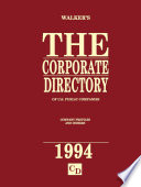The Corporate Directory of US Public Companies 1994