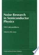 Noise Research in Semiconductor Physics Pdf/ePub eBook