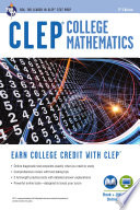 CLEP   College Mathematics Book   Online