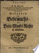 F. G. Pipers ... Gedanken vom Bedemuths- oder Bette-Munds-Rechte in Westfalen