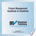 Project Management Handbook Of Checklists : ...