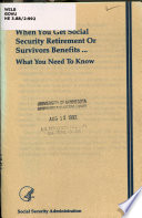 When You Get Social Security Retirement Or Survivors Benefits