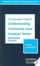 The Manager s Guide to Understanding Commonly Used Contract Terms