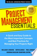 Project Management Essentials  Fourth Edition