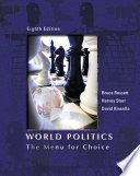 World Politics: The Menu For Choice : complex subject of international relations with world politics:...