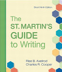 The St  Martin s Guide to Writing Short Edition