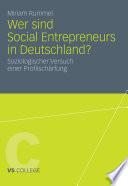 Wer sind Social Entrepreneurs in Deutschland?