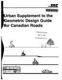 Urban Supplement to The Geometric Design Guide for Canadian Roads