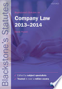 Blackstone s Statutes on Company Law 2013 2014