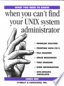 When You Can T Find Your Unix System Administrator