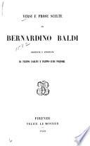 Versi e prose scelte di Bernardino Baldi