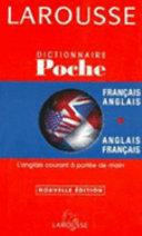Dictionnaire de poche français-anglais, anglais-français