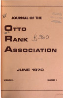 Journal of the Otto Rank Association Book PDF