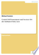 Control Self Assessment und Section 404 des Sarbanes Oxley Acts
