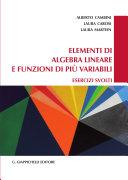 Elementi di algebra lineare e funzioni di pi   variabili