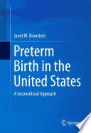 Preterm Birth in the United States Book PDF