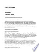 illustration Linux Dictionary
