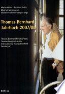 Thomas Bernhard Jahrbuch 2007-08