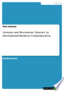Gestures and Movements  kinesics  in International Business Communication