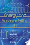 Energy and Sustainability III