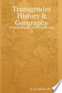 Transgender History   Geography  Crossdressing in Context