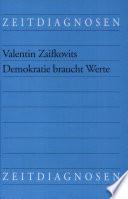 Demokratie braucht Werte