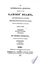 The Mathematical Questions Proposed in the Ladies' Diary