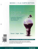 College Mathematics for Business  Economics  Life Sciences and Social Sciences  Books a la Carte Plus Mymathlab Package