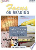 Roll of Thunder  Hear My Cry Reading Guide